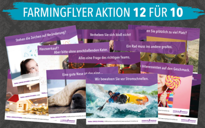 12 Farmingflyer für die Immobilienakquise! (Aktion)